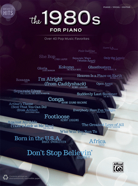 Greatest Hits -- The 1980s for Piano