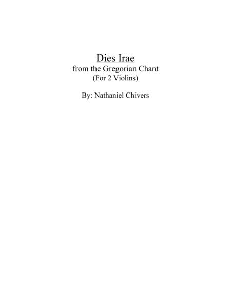 Dies Irae Violin Duet