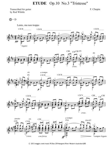 Etude (Op.10, No 3)  ''Tristesse''