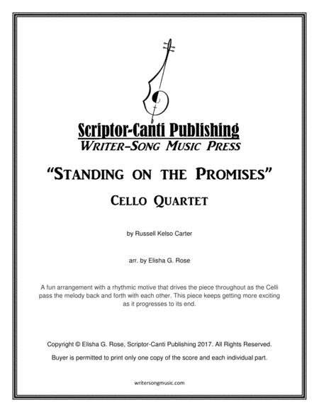 Standing on the Promises - Cello Quartet
