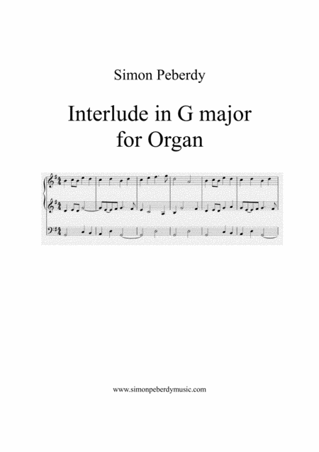Organ Interlude in G major