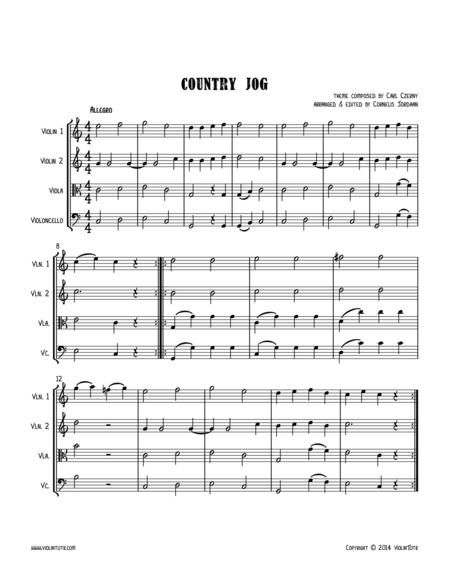 C. CZERNY : Country Jog, an easy string quartet