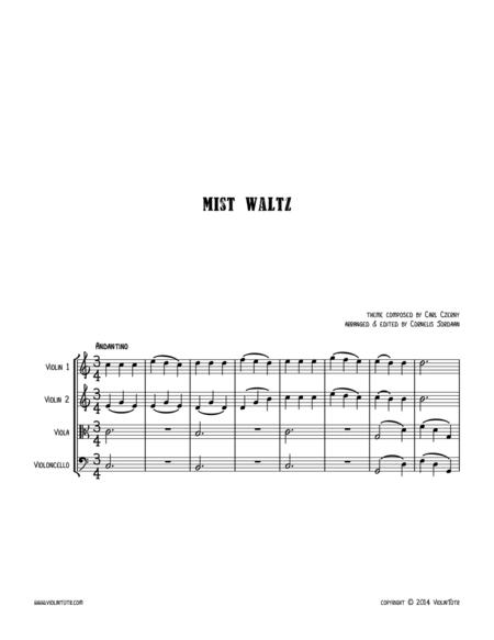 C. CZERNY : Mist Waltz, an easy string quartet
