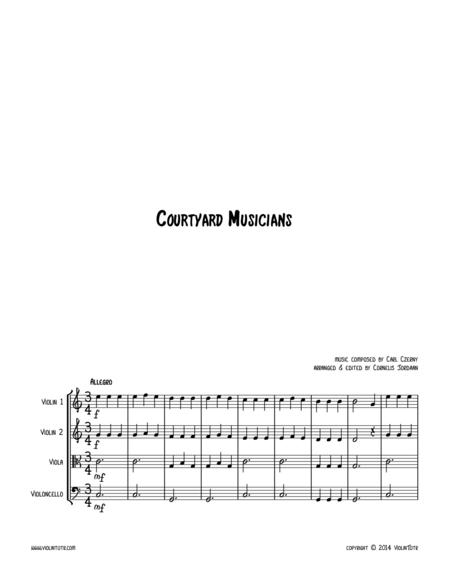 C. CZERNY : Courtyard Musicians, an easy string quartet