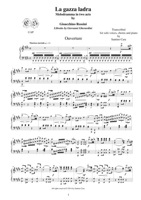Rossini-La gazza ladra-Ouverture-Solo piano