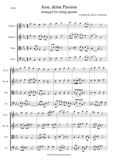 Jesus deine Passion for string quartet