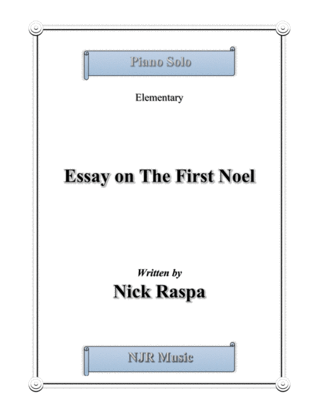Essay on The First Noel