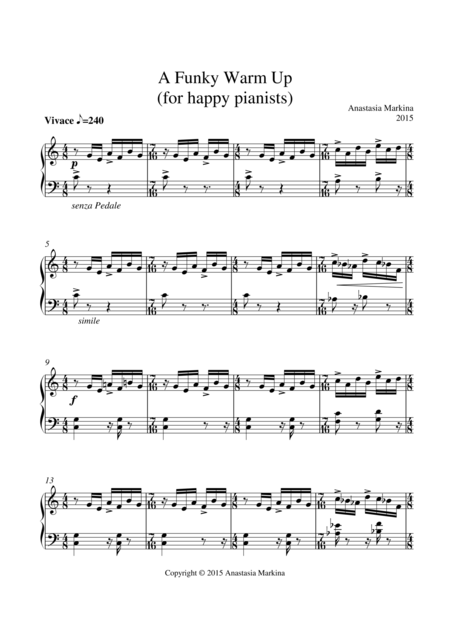 Funky Warm Up (for Happy Pianists)