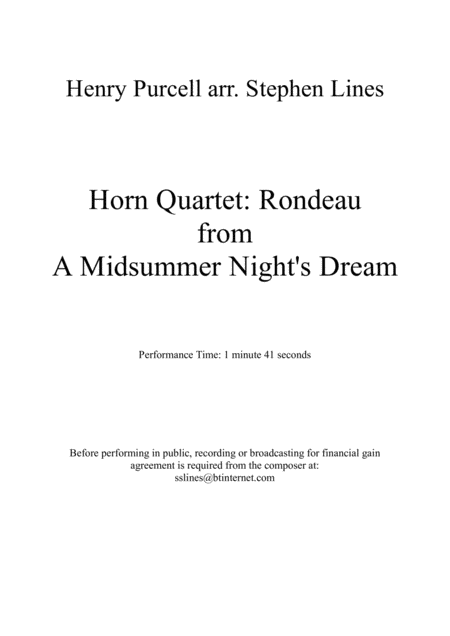 Rondeau from a Midsummer Night's Dream