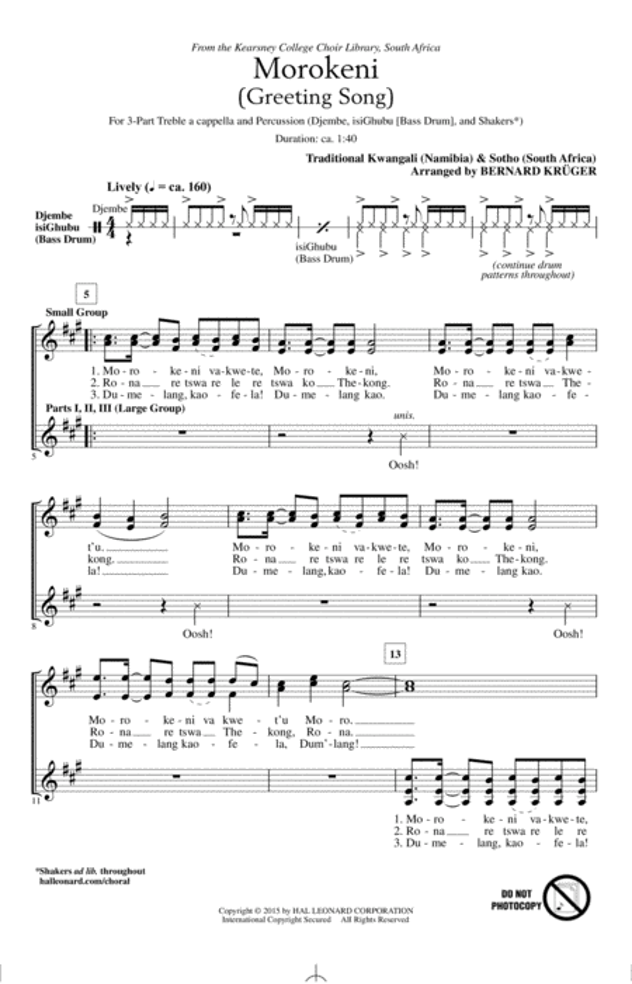 Morokeni (Welcome Song)
