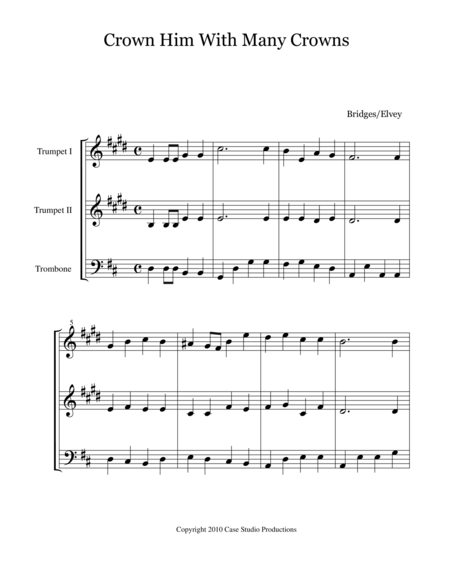 Hymns For Brass Trio Book II - 2 Trumpets and Trombone