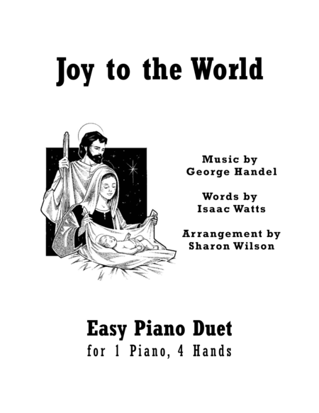 Joy to the World (Easy Piano Duet; 1 Piano, 4 Hands)