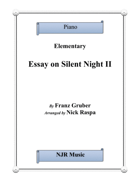 Essay on Silent Night II for elementary level piano