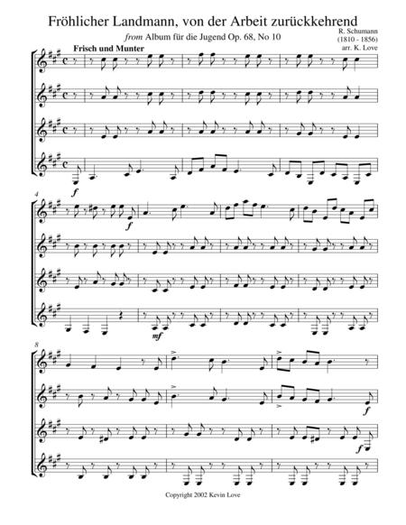 Frohlicher Landmann, ... (Guitar Quartet)