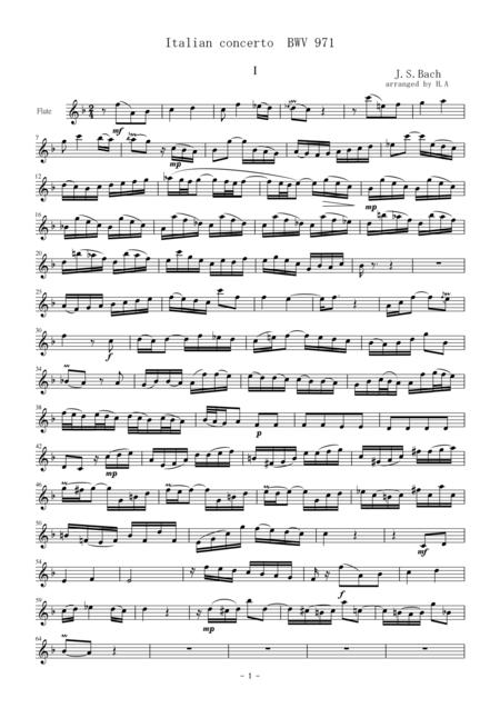 Italian concerto BWV971 1st mov for flute trio