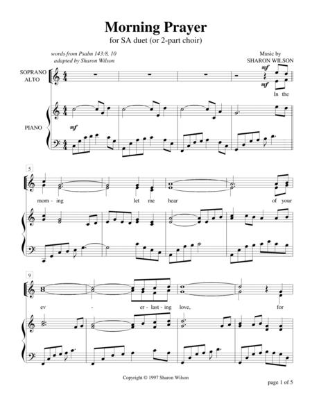 Morning Prayer - Psalm 143 (for SA choir with piano accompaniment)