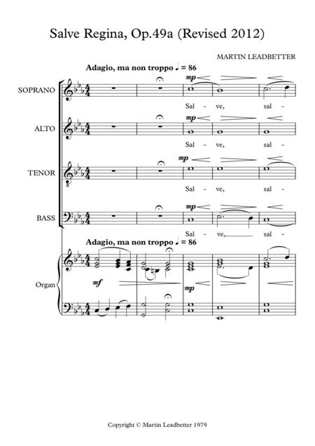 Salve Regina,Op.49a