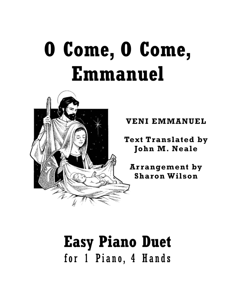 O Come, O Come, Emmanuel (Easy Piano Duet; 1 Piano, 4 Hands)