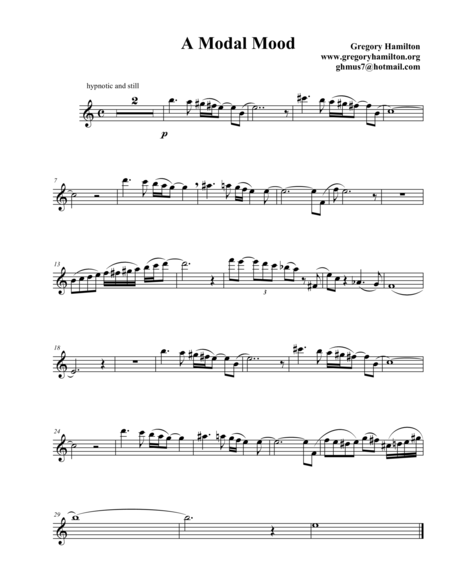 A Modal Mood for Flute and Guitar