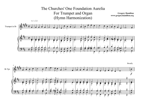 The Church's One Foundation - Aurelia - Trumpet and Organ