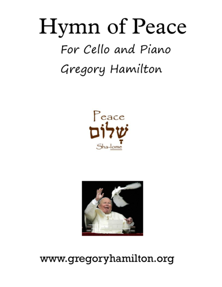 Hymn of Peace for Cello and Piano