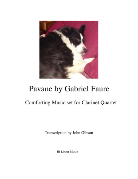 Faure - Pavane set for clarinet quartet