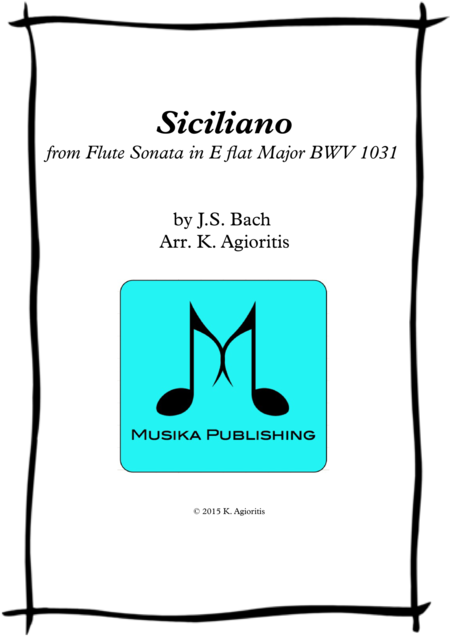 Siciliano - for Saxophone Quartet
