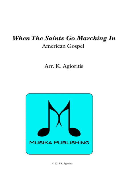 When the Saints Go Marching In - for Clarinet Quartet