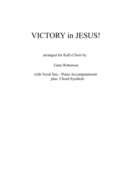 Victory in Jesus - Kids Version