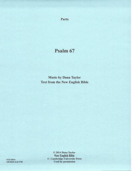 Psalm 67, Opus No. 22 -Parts