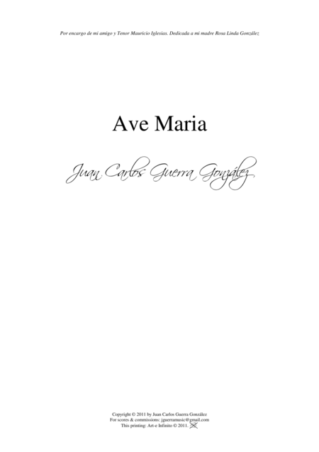 Ave Maria (High Voice Solo)