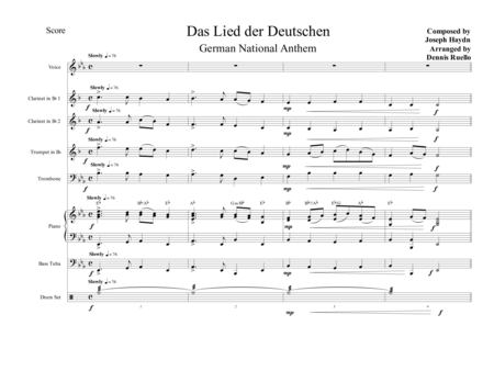 Das Lied der Deutschen (German National Anthem)