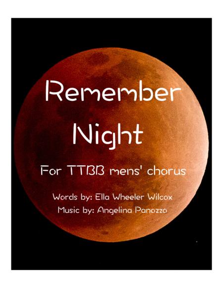 Remember Night for TTBB chorus