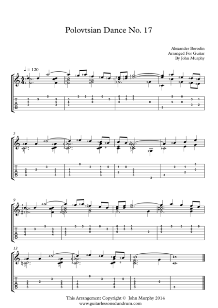 Polovtsian Dance No. 17 A. Borodin