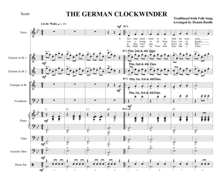 THE GERMAN CLOCKWINDER - OKTOBERFEST - OPTIONAL VOCAL
