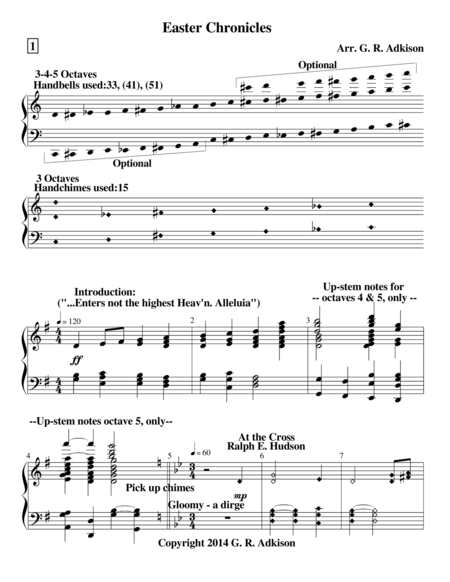 Easter Chronicles (for 3, 4 & 5 octave handbell choirs)