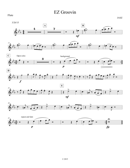 EZ Groovin - Flute