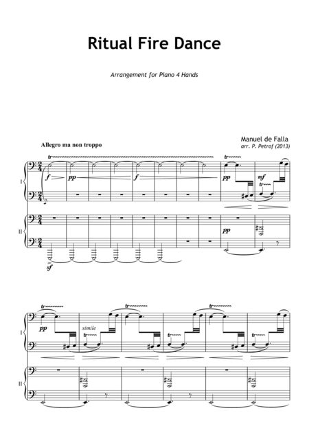 Ritual Fire Dance - for piano 4 hands