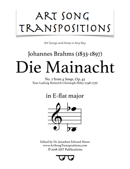 Die Mainacht, Op. 43 no. 2 (E-flat major)