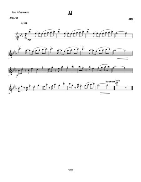 JJ-Flute (concert treble clef)