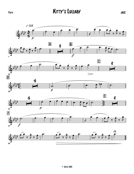 Killy's Lullaby - flute / C part