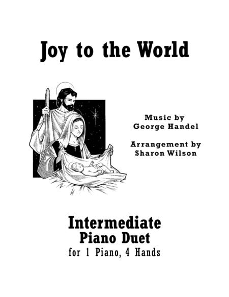 Joy to the World (Intermediate Piano Duet; 1 Piano, 4 Hands)