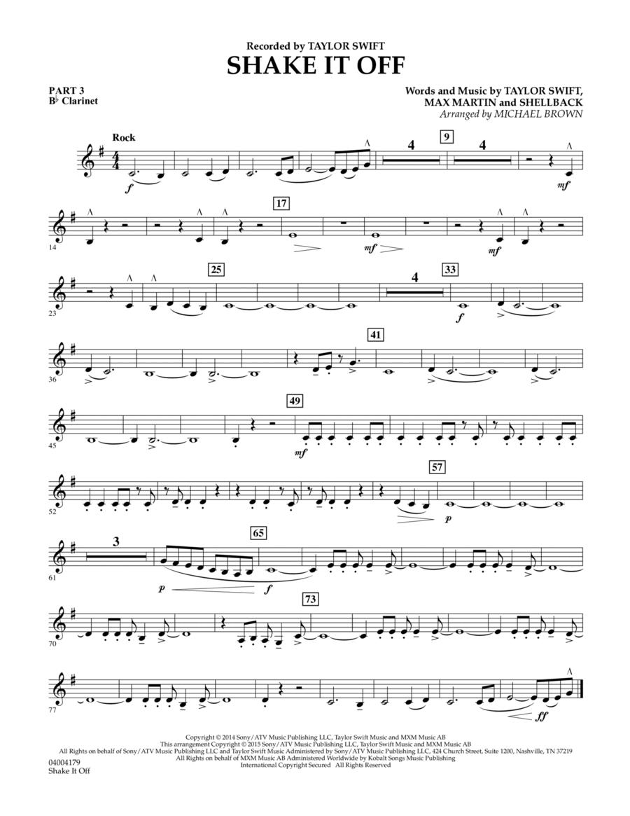 Shake It Off - Pt.3 - Bb Clarinet