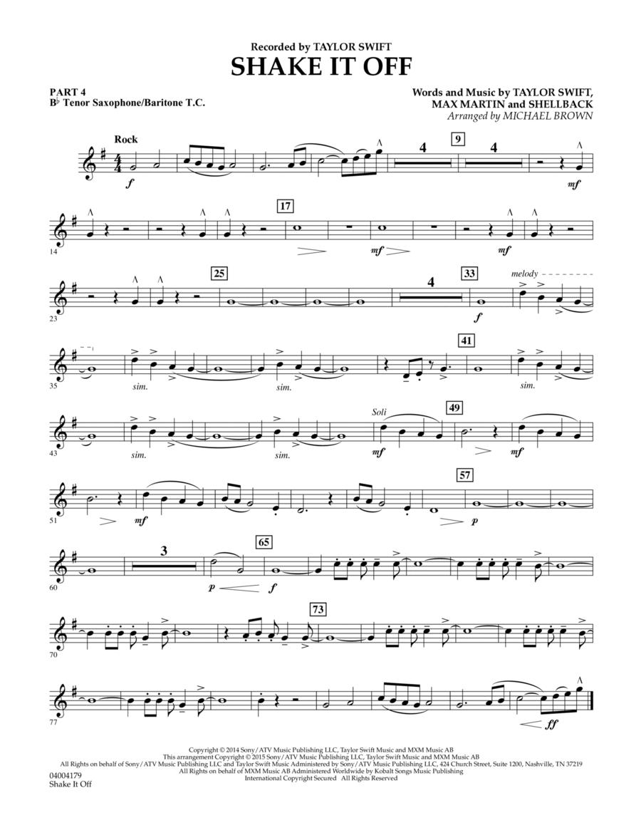 Shake It Off - Pt.4 - Bb Tenor Sax/Bar. T.C.