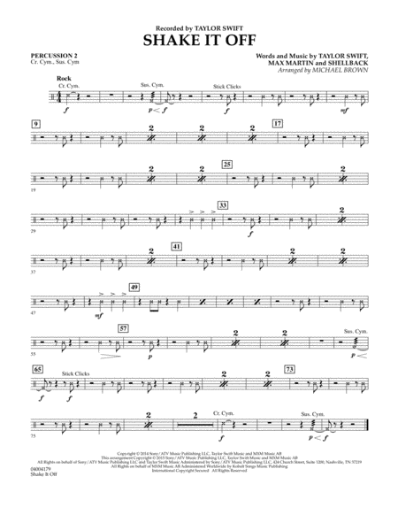 Shake It Off - Percussion 2