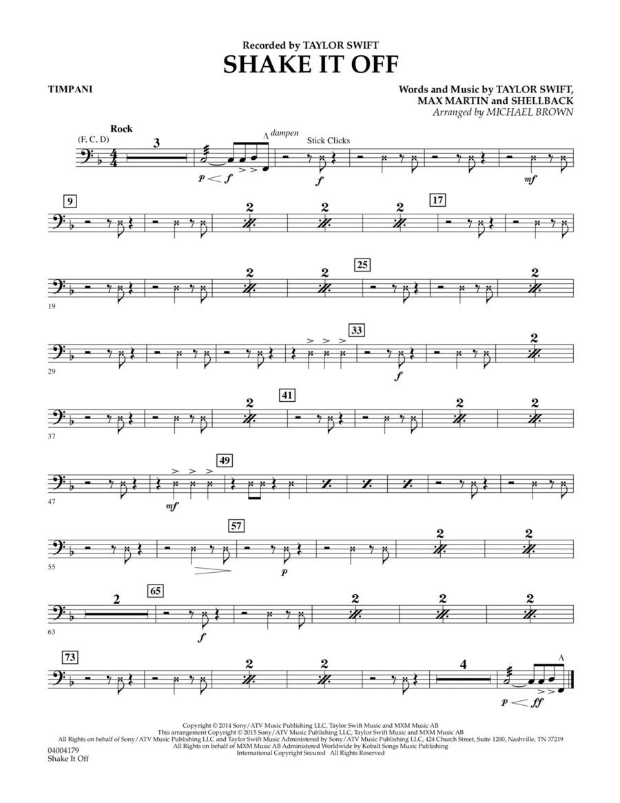 Shake It Off - Timpani