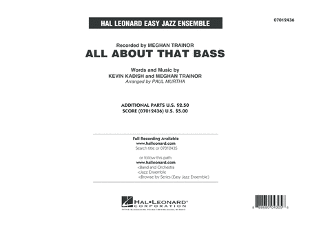 All About That Bass - Conductor Score (Full Score)