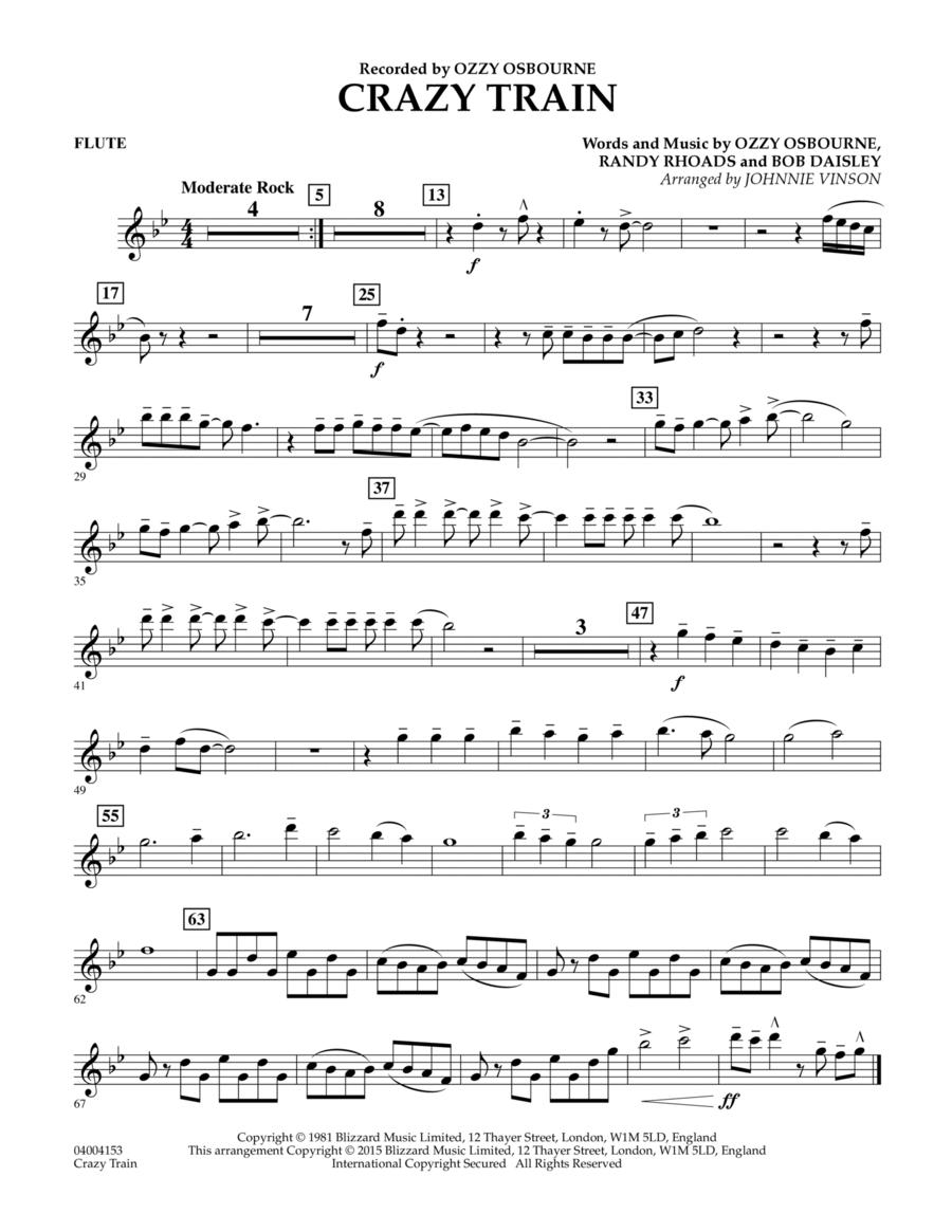 Crazy Train - Flute