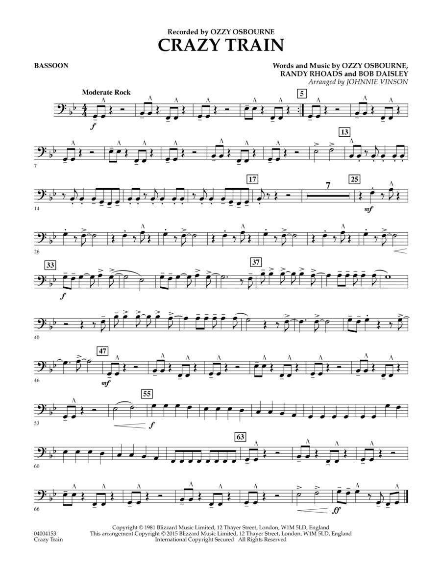 Crazy Train - Bassoon