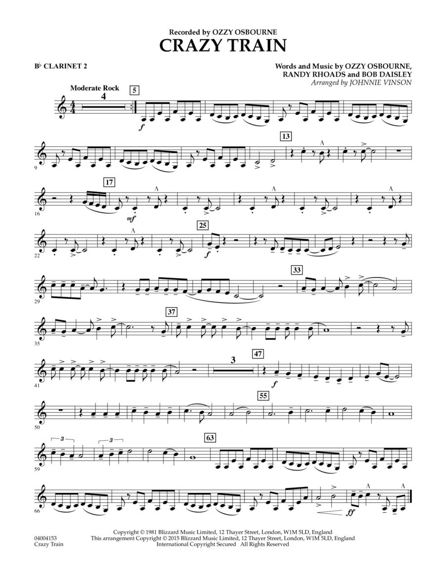 Crazy Train - Bb Clarinet 2